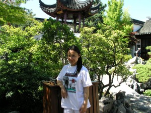 Xin at Dr. Sun Yat-Sen Classical Chinese Garden, Vancouver, Canada in 2004