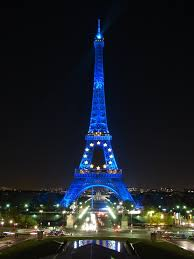 The Eiffel Tower Nighttime View