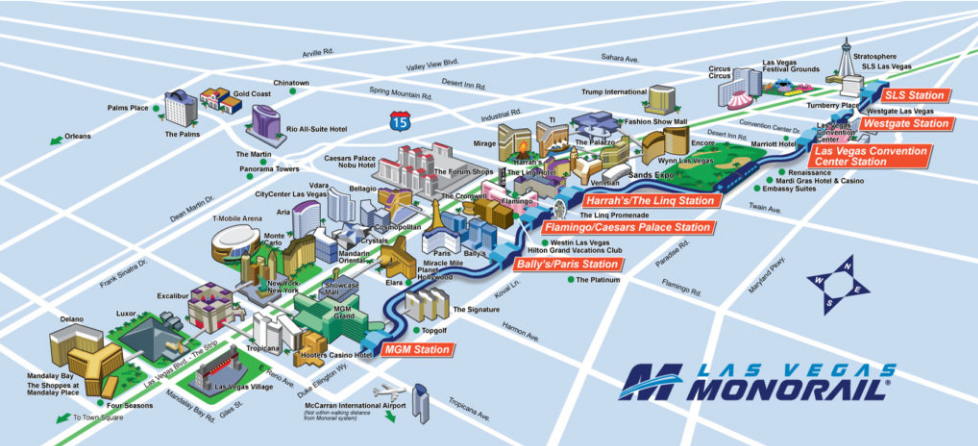Las Vegas Monorail Map