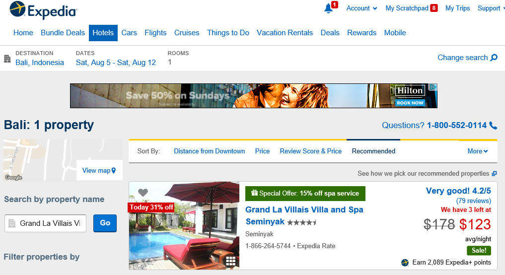 Bali Grand La Villais Villas Spa and Resort Expedia