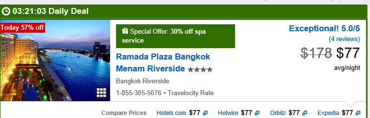 Ramada Plaza Bangkok Menam Riverside Travelocity September 2017
