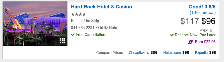 Hard Rock Hotel Orbitz Quote