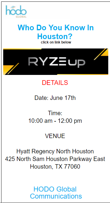 Free RYZE.Ai Seminar in Houston, Texas on Saturday June 17th