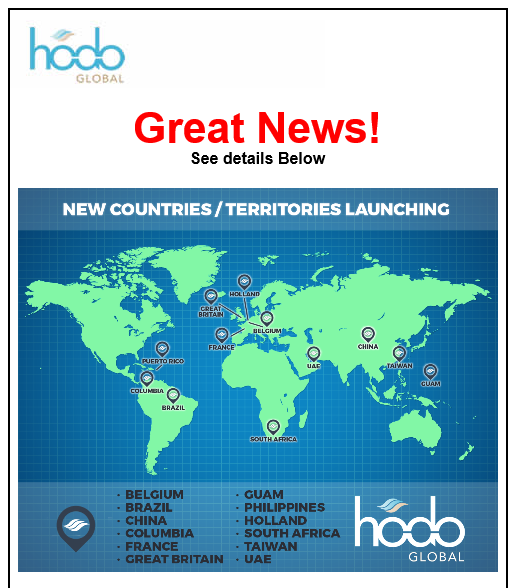 Hodo Global New Country Announcement