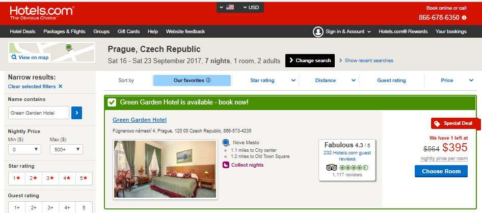Green Garden Hotel Prague September 2017 Hotels.com