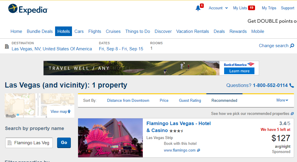 Las Vegas Flamingo September 2017 Expedia