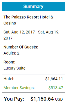 Las Vegas Palazzo August 2017 TripSpin