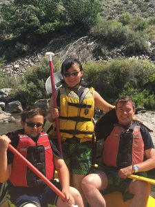 Xin and Family Rafting in Rio Grande Gorge near Taos, New Mexico