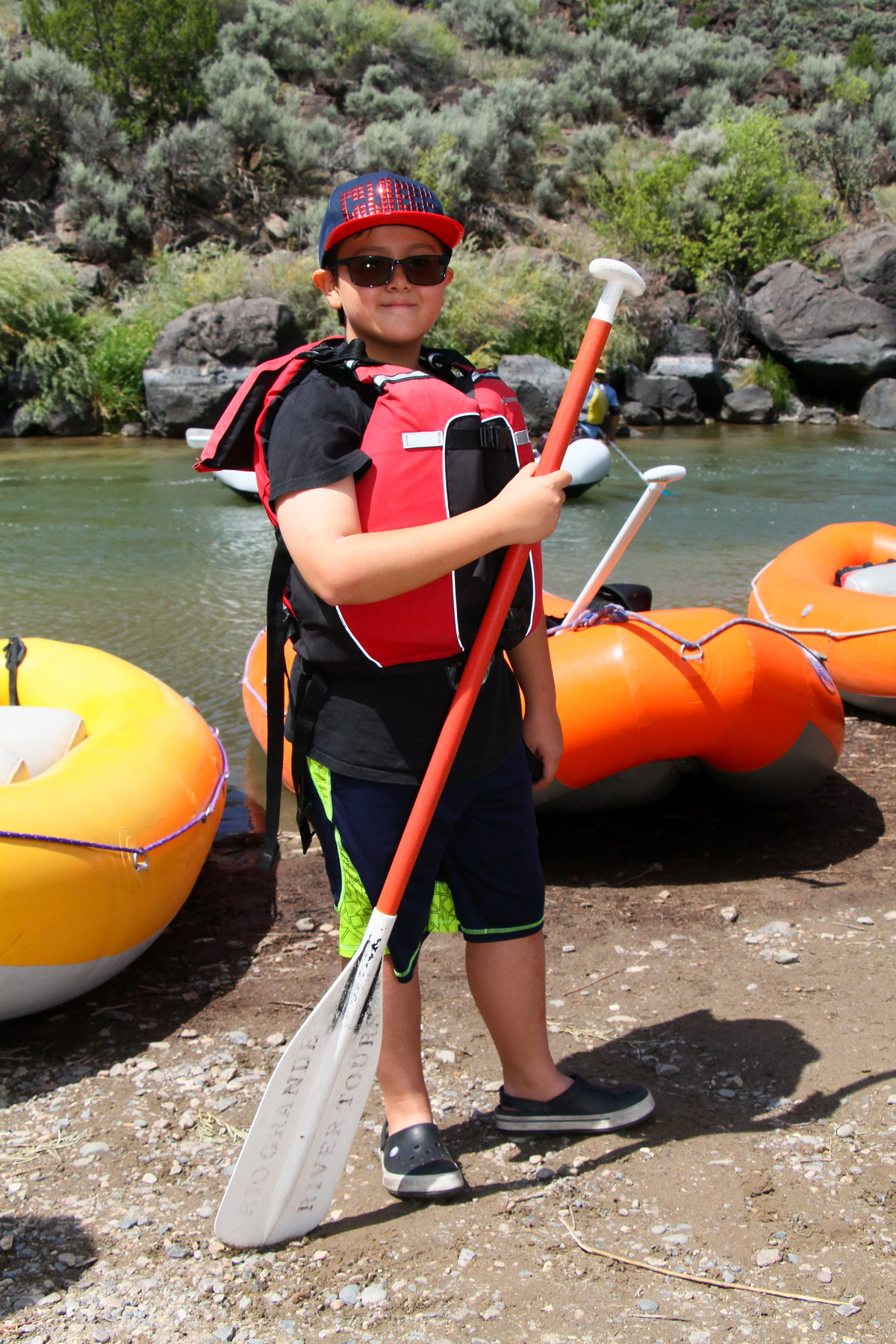 My Son Rafting in Rio Grande Gorge Near Taos, New Mexico