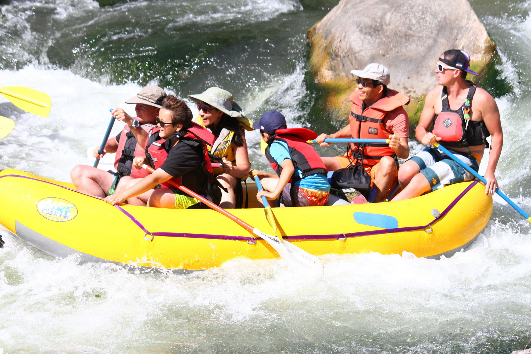 My Family Rafting in Rio Grande Gorge Near Taos, New Mexico